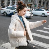 轻薄羽绒服女装2018新款冬季连帽小个子短款小外套时尚冬装衣服潮 白色