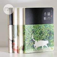 猫的手帖笔记本裸装本日式猫咪空白手帐本速写本可爱记事本子