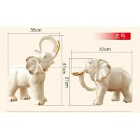 欧式玄关大象摆件 大号陶瓷工艺品 客厅电视柜家居装饰品