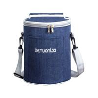 保温饭盒袋手提包防水饭盒包圆形便当包大容量带饭手提袋保温桶套
