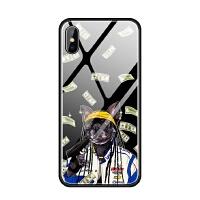 苹果iphoneX 6s 7 8 plus 5se蓝光玻璃手机壳潮牌创意狗法斗酷