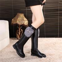 女童高筒靴儿童韩版保暖过膝靴2018秋冬季新款公主加绒小女孩长靴