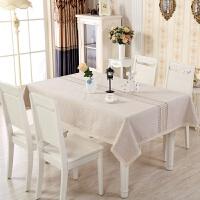桌布布艺棉麻小清新长方形现代简约欧式亚麻台布北欧茶几餐桌布