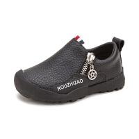 拥抱熊 儿童鞋子男童小皮鞋1-3岁宝宝鞋防滑休闲鞋女婴儿软底学步鞋单鞋