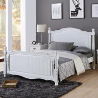 美式家具床美式乡村实木床1.8米欧式储物床1.5米单人床卧室双人床 1800mm*2000mm 气压结构