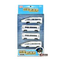 合金地铁动车和谐号动车模型中国高铁地铁火车头磁吸合金儿童玩具 高铁(四节41CM)