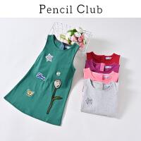 【3件2折:39.8】铅笔俱乐部童装2020夏装新款女童针织连衣裙中大童背心裙儿童裙子