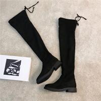 2018秋冬季新款内增高平底靴子长筒靴过膝靴女鞋高筒靴长靴女靴夏
