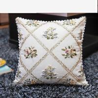 丝带绣新款客厅卧室沙发简单印花十字绣丝带绣抱枕靠垫套