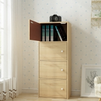 欧式约储物柜易书柜书架柜子带门置物柜收纳木质自由组合柜子