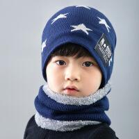 冬天帽子男士毛线帽针织儿童保暖围脖套户外包头帽