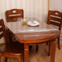 pvc软玻璃防水防油防烫免洗伸缩折叠餐桌椭圆形桌布桌垫