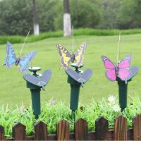 太阳能蝴蝶 仿真蝴蝶园艺花盆草坪装饰 太阳能蝴蝶
