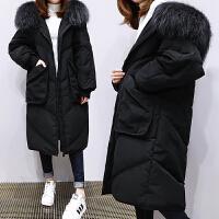 特大码女装中长款冬装加厚棉衣胖妹妹过膝230斤棉袄 黑色