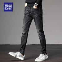 【2折到手价:124 再叠加50元优惠卷】牛仔裤男士2020春季新款时尚修身直筒长裤青年韩版潮流小脚裤