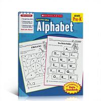 现货英文原版 Scholastic Success with Alphabet 学乐成功系列 幼儿园字母练习册 亲子课外