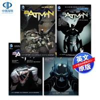 英文原版 DC蝙蝠侠漫画合集4册套装 BATMAN VOL.1.2.3.4 猫头鹰法庭 谜城 灭族之灾 猫头鹰之城 新5