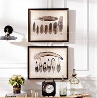 奇居良品 欧美画芯客厅餐厅卧室书房装饰画挂画壁画 羽毛世界