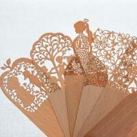 创意Book Marker复古木质书签 芭蕾女孩 镂空书签 韩国文具 复古木质书签 镂空薄古风书签 创意礼物