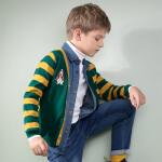 【3折价:107.73元】暇步士童装新款男童时尚条纹开身线衣