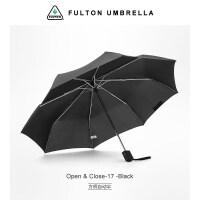 抗风自动雨伞男士雨伞折叠雨伞男晴雨伞绅士伞 O&C-17黑色