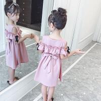 女童连衣裙夏季新款韩版夏装儿洋气露肩公主裙子潮