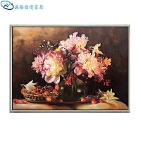 欧式古典油画手绘餐厅装饰画现代简约玄关定制壁画北欧客厅挂画花卉画