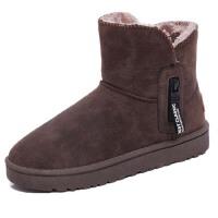 WARORWAR新品YM172-MX306-5冬季欧美平底舒适厚绒里保暖女雪地靴