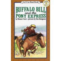 英文绘本 原版进口 Buffalo Bill and the Pony Express 水牛比尔和小矮马快递