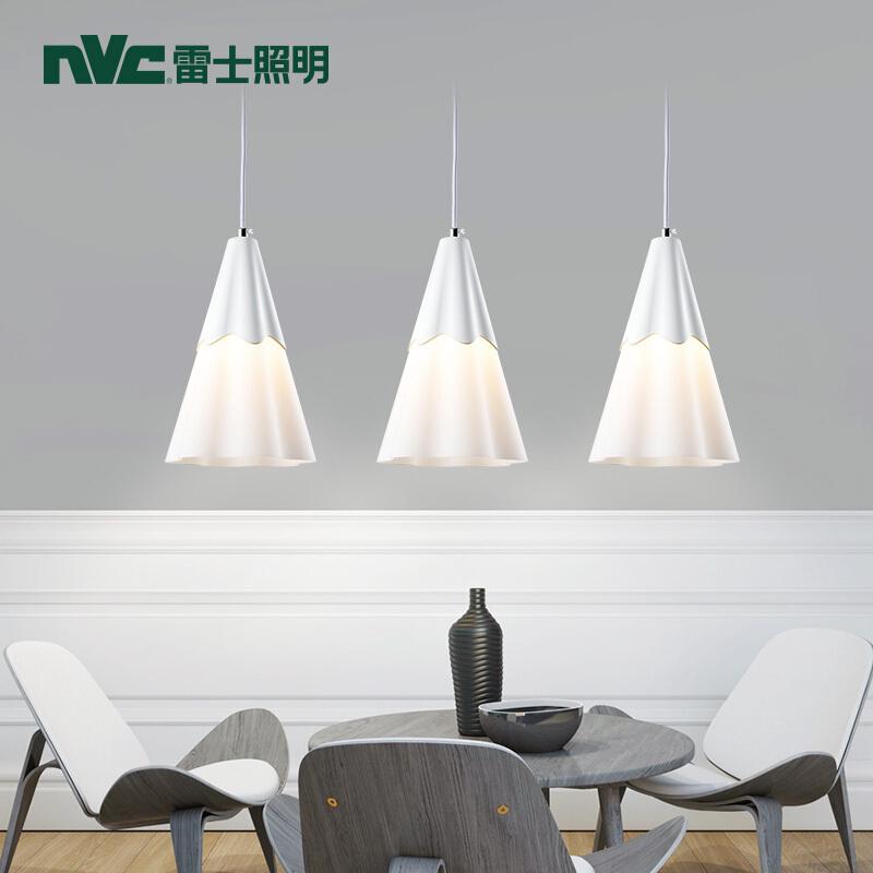 雷士照明 现代简约餐厅灯 时尚创意餐吊灯 吧台灯 餐厅灯 简约 3头餐吊灯