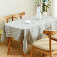 新款桌布棉麻餐桌布茶几布亚麻加厚台布书桌圆桌布正方形