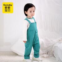 【79元3件】歌歌宝贝婴儿背带裤套装春秋宝宝背带裤两件套纯棉女婴幼儿背带裤