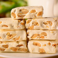 手工牛轧糖500g约53颗 花生牛奶抹茶牛扎结婚喜糖果网红零食品