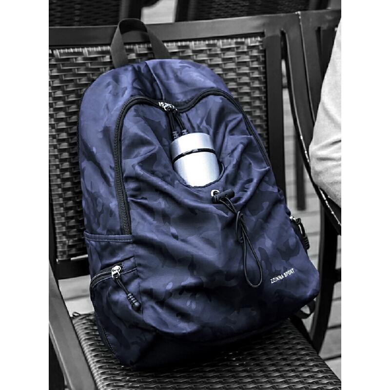 简约百搭小大学生书包男帆布时尚潮流男士背包休闲运动旅行双肩包