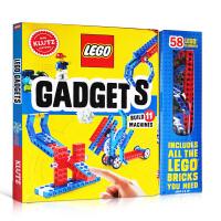【全店300减100】英文原版 LEGO GADGETS 乐高可动小机器 DIY玩具手工组装套装书 小学STEM辅导用书