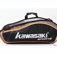 KAWASAKI羽毛球包 中性 川崎羽毛球背包6支装KBB-8668(黑色)
