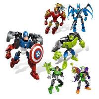 拼装积木复仇者钢铁侠绿巨人美国队长拼装积木玩具