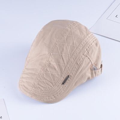 帽子男冬天贝雷帽休闲百搭鸭舌帽韩版潮前进帽纯色英伦画家帽新款 米白色 贝雷贴标-米色 一般在付款后3-90天左右发货,具体发货时间请以与客服协商的时间为准