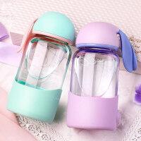 兔子玻璃杯学生可爱水杯女生花茶杯超萌创意便携随手杯子韩版果汁牛奶瓶