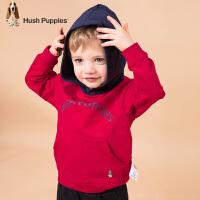 【3件3折:99元】暇步士童装春季新款男小童时尚经典可爱撞色连帽卫衣儿童卫衣(80-130)
