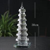 9九层十三13层水晶摆件 白水晶塔学业事业家居工艺品