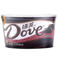 【年味狂欢 爆品直降】德芙香浓黑巧克力碗装252g *3新老包装随机发货