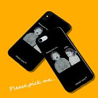 Please pick me创意iPhone6/7/8plus苹果XsMax全包光面手机壳 iPhone 7p/8pl