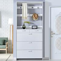 超薄翻斗鞋柜白色门厅柜简约现代进门衣架家用经济型多功能储物柜