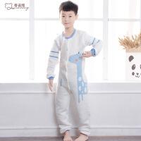 儿童连体睡衣大童加厚夹棉秋冬款男孩女童纯棉卡通防着凉大码哈衣