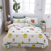 伊迪梦家纺 床单式四件套 高支高密纯棉斜纹面料 活性印花环保安全绿色 适用1.2/1.5/1.8/2.0米单人双人床H
