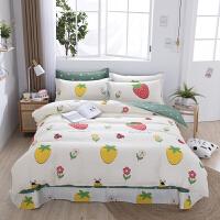 伊迪梦家纺 床单式四件套 高支高密纯棉斜纹面料 活性印花环保安全绿色 适用1.2/1.5/1.8/2.0米单人双人床HC
