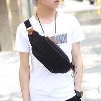 2018新款韩版男包 帆布小包 户外运动腰包 胸包男士帆布胸包腰包