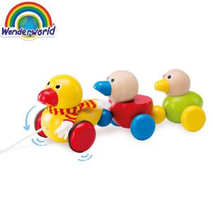 [当当自营]泰国Wonderworld 鸭子的一家 摇摆 1岁以上 木质拖拉学步玩具