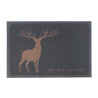 北欧麋鹿除尘地垫地毯 进门丝圈蹭土门垫 大门门厅防滑垫门口脚垫